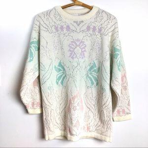 Vintage Sweaters - Vintage pastel 80's sweater
